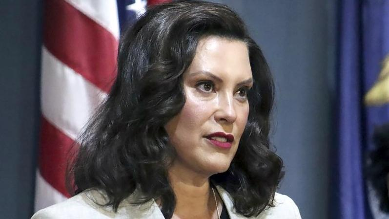 In a June 17, 2020, file photo provided by the Michigan Office of the Governor, Michigan's Democratic Gov. Gretchen Whitmer addresses the state during a speech in Lansing, Mich. Whitmer was unreceptive Tuesday, July 28, 2020. (Michigan Office of the Governor via AP, File)
