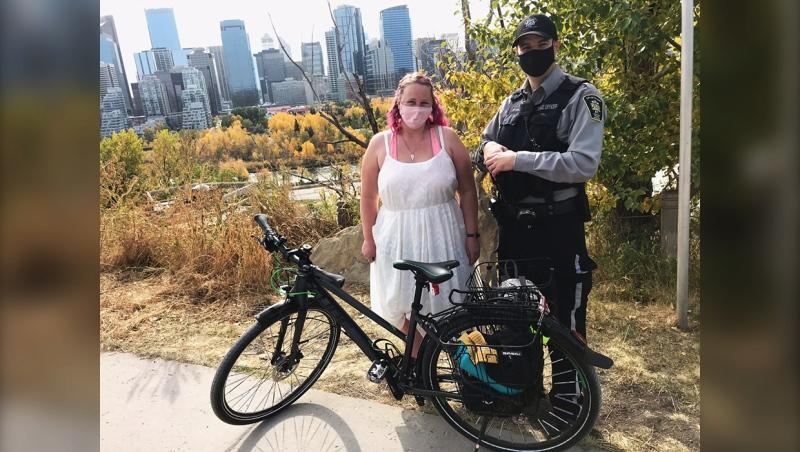 Calgary police recovered a stolen bike belonging to Jennifer Selzer 12 hours after it went missing