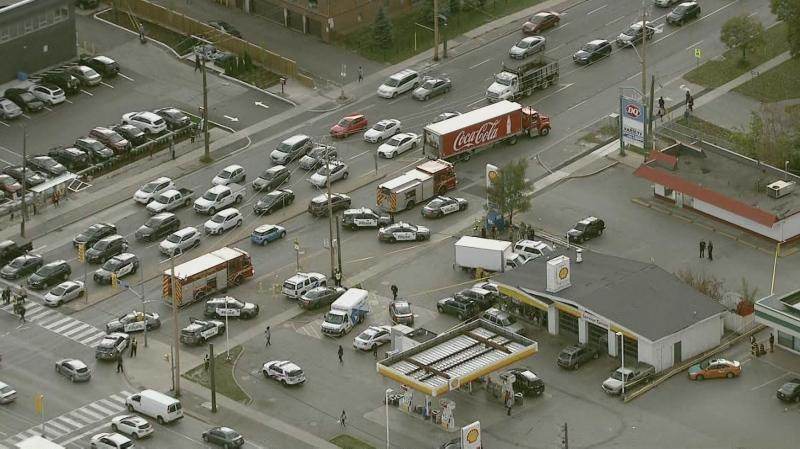 The Ministry of Labour is investigating after a man in his 20s is dead following a collision at a gas station in North York on Friday afternoon.