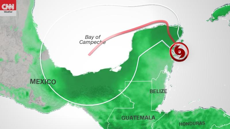 The government of Mexico has issued a hurricane warning for the east coast of the Yucatán Peninsula from north of Punta Allen to Cancun, including Cozumel, the hurricane centre says. (CNN Weather)