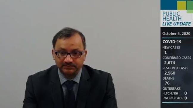 Medical officer of health Dr. Wajid Ahmed in Windsor., Ont. (Source: WECHU / YouTube)