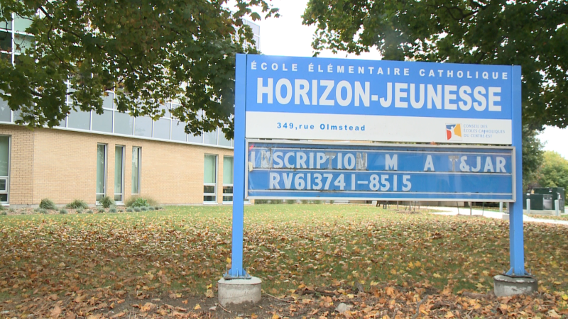 École élémentaire catholique Horizon-Jeunesse is closed due to the spread of COVID-19.