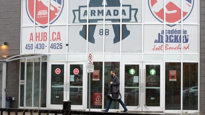 The home arena of the Blainville-Boisbriand Armada of the Quebec Major Junior Hockey League is seen Wednesday, October 7, 2020 in Boisbriand, Que. The team has had 18 members of their organization test positive for COVID-19.THE CANADIAN PRESS/Ryan Remiorz