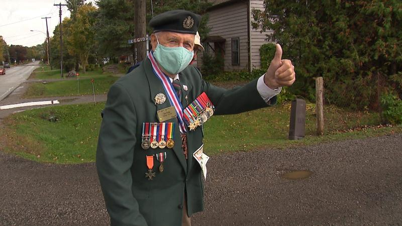 Jim Parks, pictured above, was 19-years-old went he went to war. (CTV News Toronto)