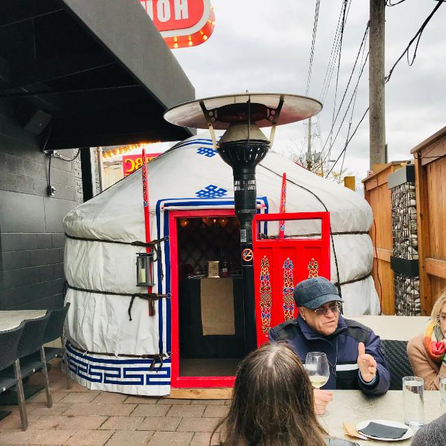 A Yurt at Amsterdam Brew House