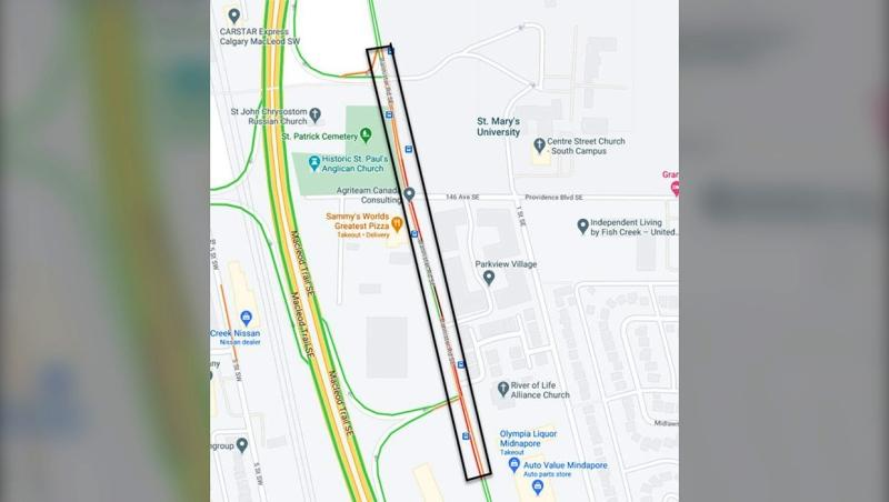Traffic in southwest Calgary was disrupted Wednesday afternoon due to a long lineup of cars outside a COVID-19 testing centre