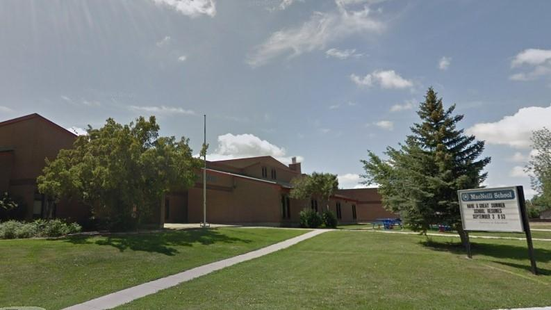 Regina Public Schools says a case of COVID-19 was reported at MacNeill School on Oct. 31. (Google Maps)
