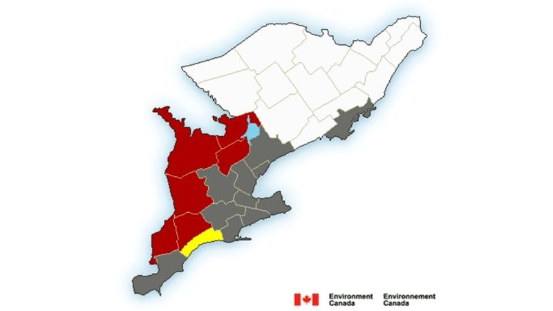 Snow Squall and wind warnings for Sunday, November 1, 2020 (Source: Environment Canada)