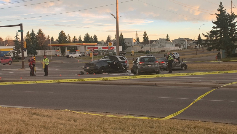 A four vehicle crash happened on Monday afternoon at 32 Avenue and 68 Street N.E. Calgary.