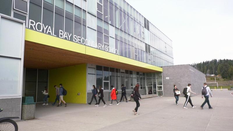 Royal Bay Secondary School first opened in 2015 with roughly 100 more students enrolled than it had capacity for: March 10, 2020 (CTV News)