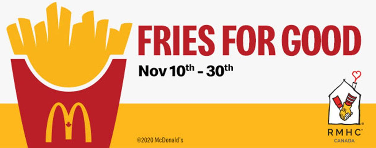 McDonalds Fries for Good - Header