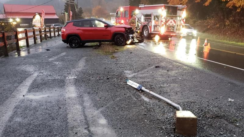 Saanich police say the crash occurred around 4:20 p.m.: (Saanich Police)