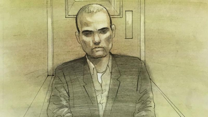 Alek Minassian is seen during his murder trial being held via videoconference on Nov. 10, 2020. (John Mantha)