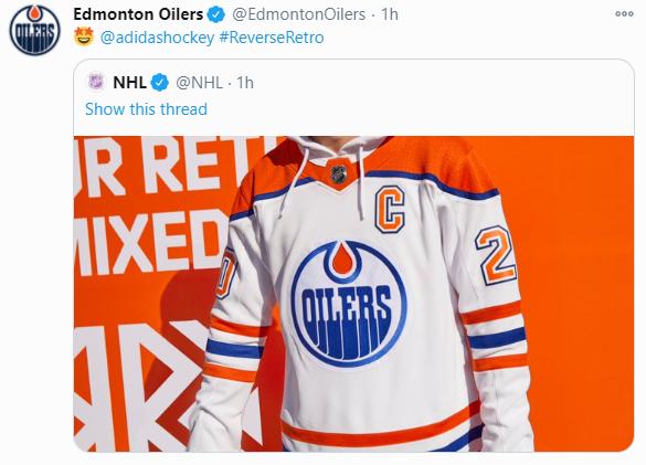 The Nhl Unveils The Reverse Retro Jerseys Edmonton Oilers Retro Jersey