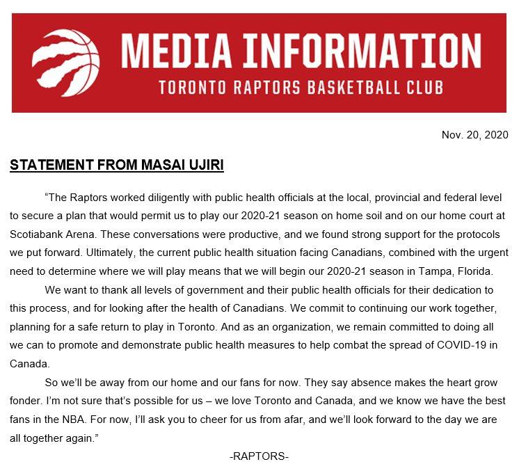 am800-sports-raptors-statement-november-2020