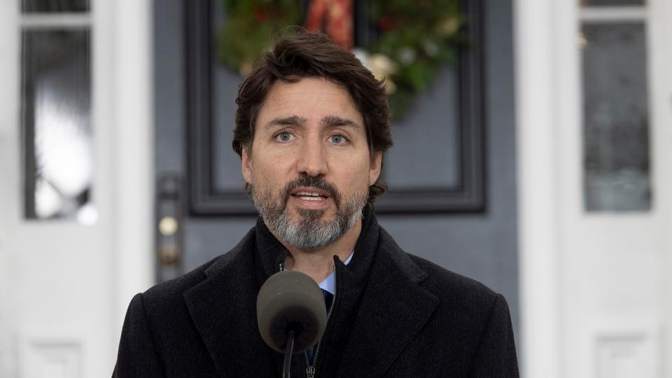 Prime Minister Trudeau speaking on November 20,2020