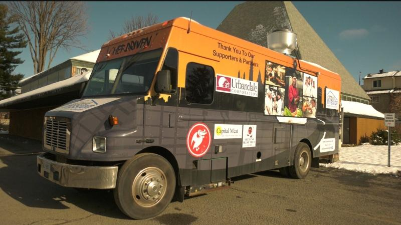 The Ottawa Mission has expanded its food truck program, which now delivers more than 2,000 hot meals per week to those in need. (Leah Larocque/CTV News Ottawa)