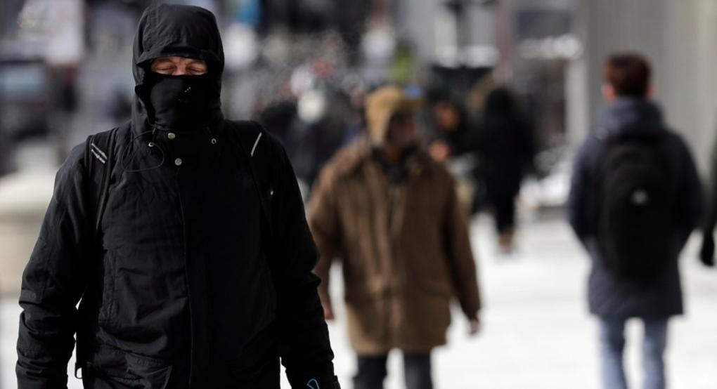 A man is bundled up against the cold in this file photo. (The Associated Press)