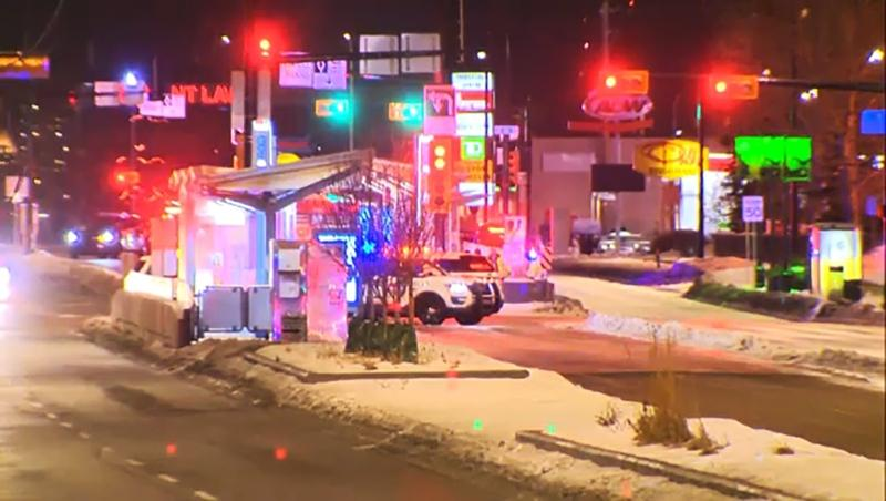 A woman is in serious condition after she was dragged by a bus Monday night in southeast Calgary