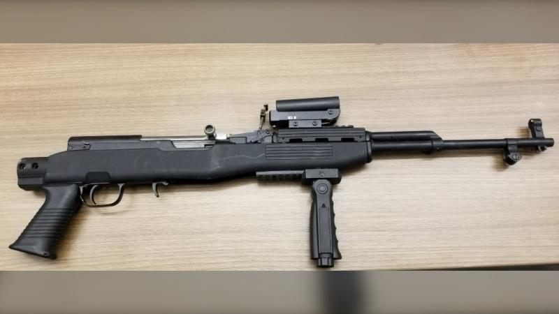 A rifle RCMP say they seized from alleged gang members. (RCMP)