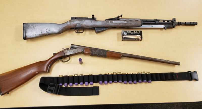 Firearms seized in connection with a weapons investigation at Millbank and Bexhill drives are seen in this image released by the London Police Service on Thursday, Jan. 7, 2021.