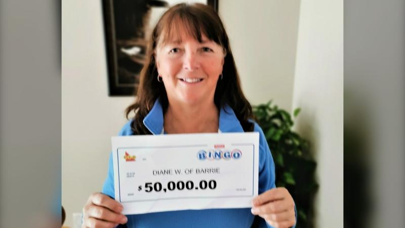 Diane Webster of Barrie, Ont. is the winner of a $50,000 Instant Bingo Prize (supplied)