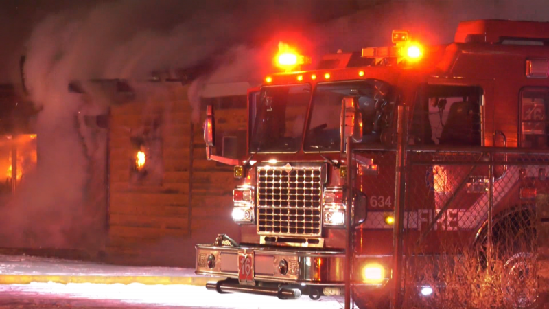 Edmonton Fire Rescue Services responded to fire at an industrial building near 71 Street at 69 Avenue around 11 p.m. Monday night.