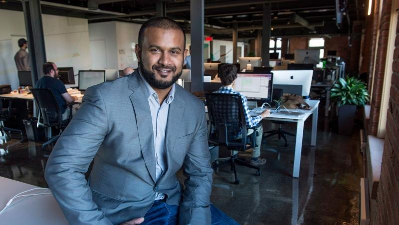 Dax Dasilva, CEO of Lightspeed, is seen in his office Tuesday, September 15, 2015 in Montreal. THE CANADIAN PRESS/Paul Chiasson
