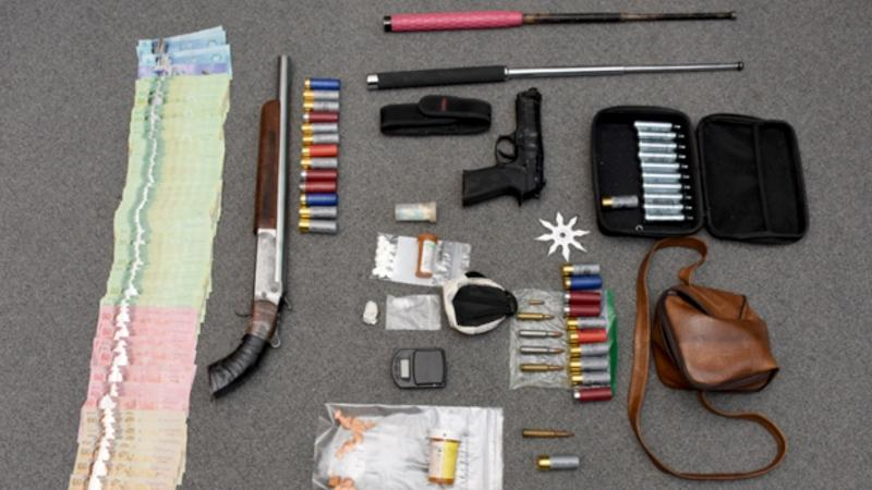 Items seized during the search warrant. (Courtesy Strathroy-Caradoc police)