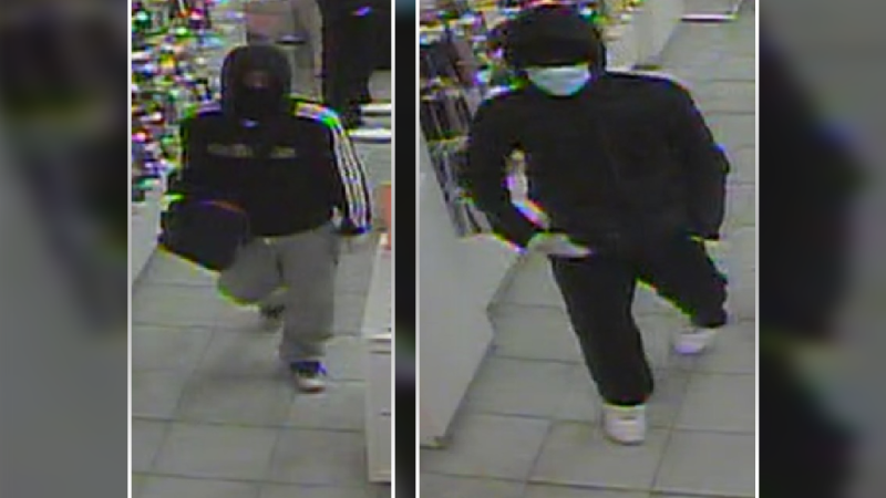Police are searching for two men accused of robbing a store in South Keys in November.