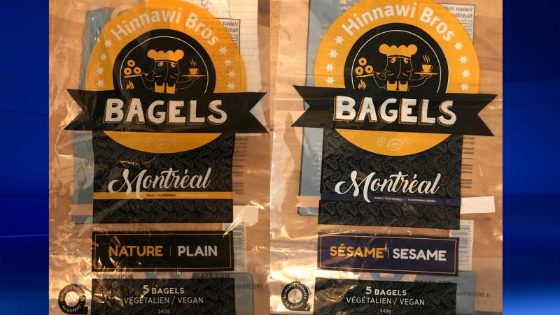 These bagels were sold as vegan, but contain eggs, food safety officials warn.