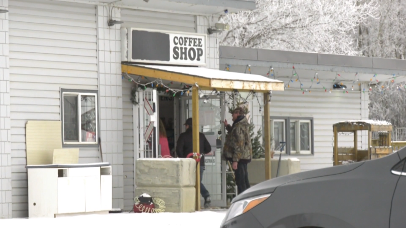 The Whistle Stop Café has been called to court for refusing to stop dine-in service. Monday Jan. 25, 2021 (CTV News Edmonton)