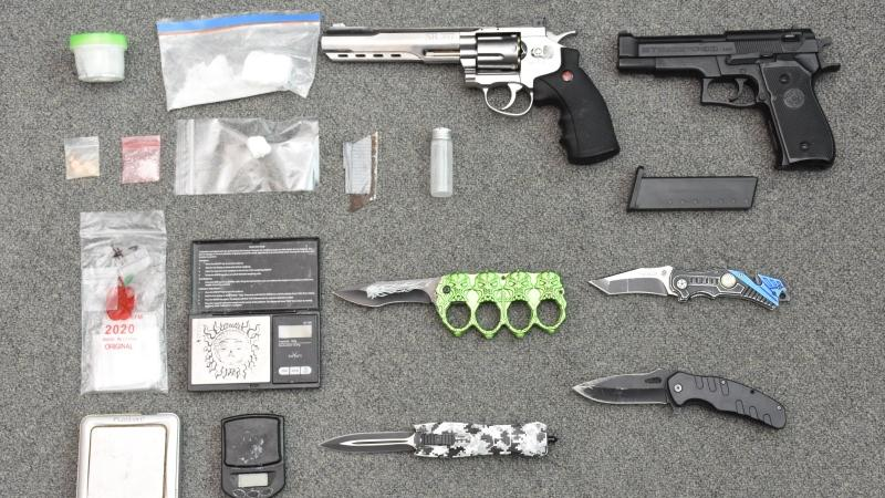 Drugs and weapons seized on Wednesday, Jan. 27, 2021.