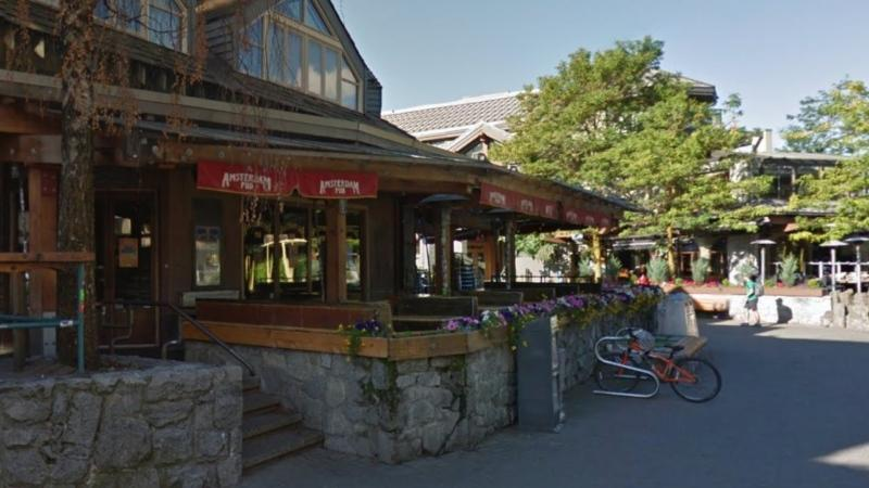 The Amsterdam Cafe Pub in Whistler, B.C. is seen in an undated Google Maps image.