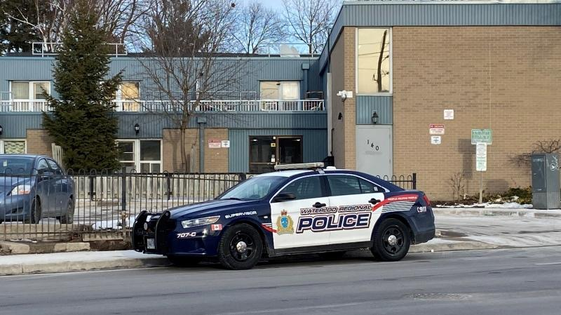 Waterloo regional police respond to a disturbance in Kitchener (Terry Kelly / CTV News Kitchener)