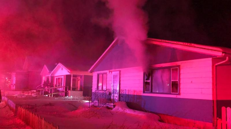 6 pets including four dogs and 2 parrots died in a house fire Sunday in Saskatoon's Mayfair neighbourhood. Photo by Saskatoon Fire Department