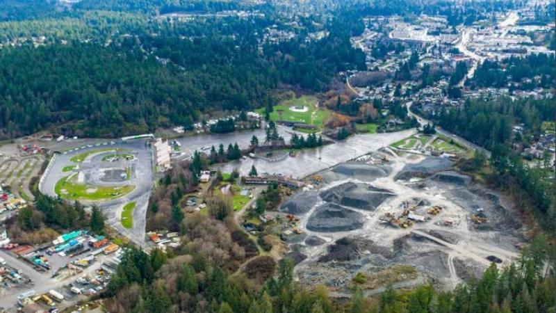 The Western Speedway property at 2207 Millstream Rd. was listed publicly as part of an estate sale Tuesday by a Victoria commercial real estate company. (CBRE Victoria)