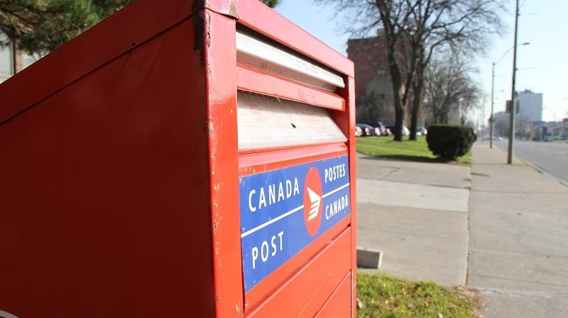 A Canada Post mailbox seen in this undated file photo. (Melanie Borrelli / CTV Windsor)