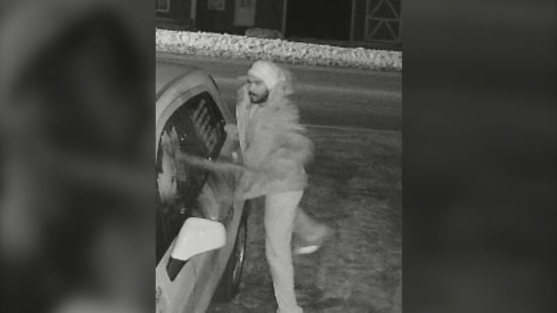 Police describe the suspect as a man, approximately 5'10'', with a thin build and dark facial hair. He was said to be wearing light coloured pants, a hooded sweater, a winter jacket and a hat at the time of the incident. (Photo courtesy: Halifax Regional Police)