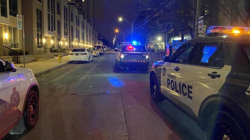 Police are investigating a stabbing in St. James Town. (CTV News/Peter Muscat)