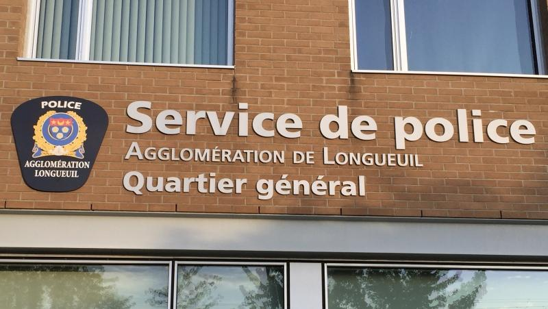 A man was arrested April 2, 2021 after dropping off a package at the Longueuil Police Station saying it was a bomb. SOURCE: SPAL