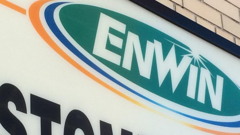 An Enwin Utilities sign in Windsor, Ont., on Monday, June 9, 2016. (Michelle Maluske / CTV Windsor)