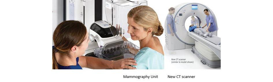 Mammography Unit and CT Scanner