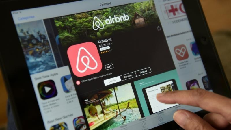 The Airbnb website is seen in this file photo. (AFP PHOTO/John MACDOUGALL)