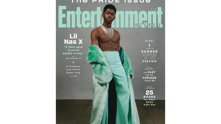 image for Lil Nas X Talks Hits, Haters In 'EW' Pride Issue