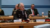 Ottawa Police Chief Charles Bordeleau attends a Police Services board meeting in March. On Tuesday, the federal government committed $10 million to the police service over five years (CTV Ottawa, April 21, 2015)