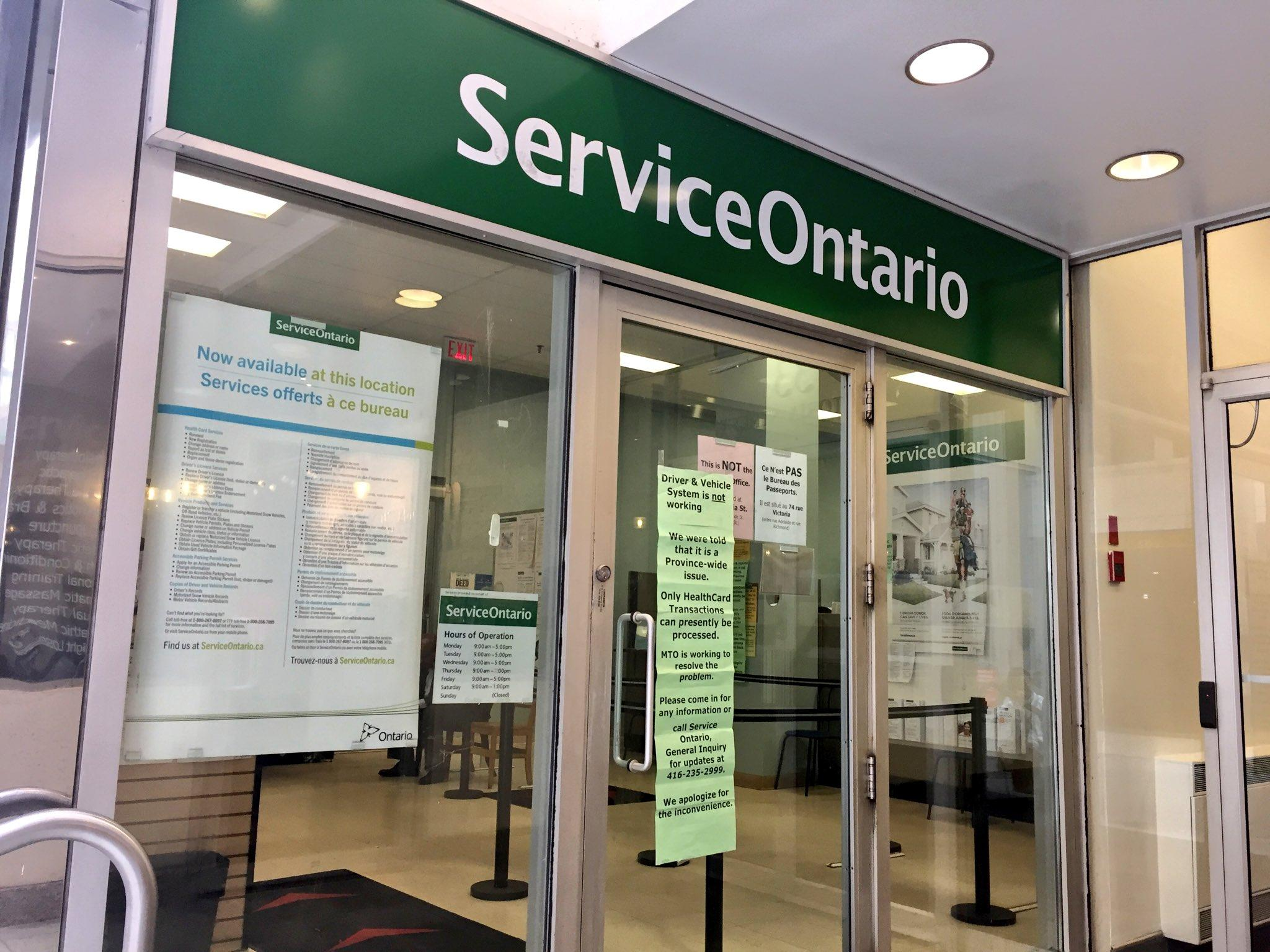 Computer glitch stops vehicle & driver licence services at