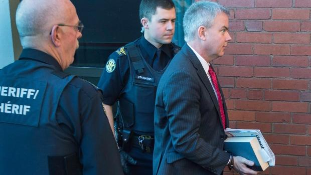 Dennis Oland arrives at the Court of Appeal in Fredericton on Oct. 19, 2016
