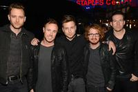 (L-R) Brent Kutzle, Eddie Fisher, Ryan Tedder, Drew Brown and Zach Filkins of the band OneRepublic attend The 40th Annual People's Choice Awards at Nokia Theatre L.A. Live on January 8, 2014 in Los Angeles, California.