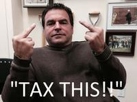 Councillor Mammoliti sent this photo out in response to the stormwater fee